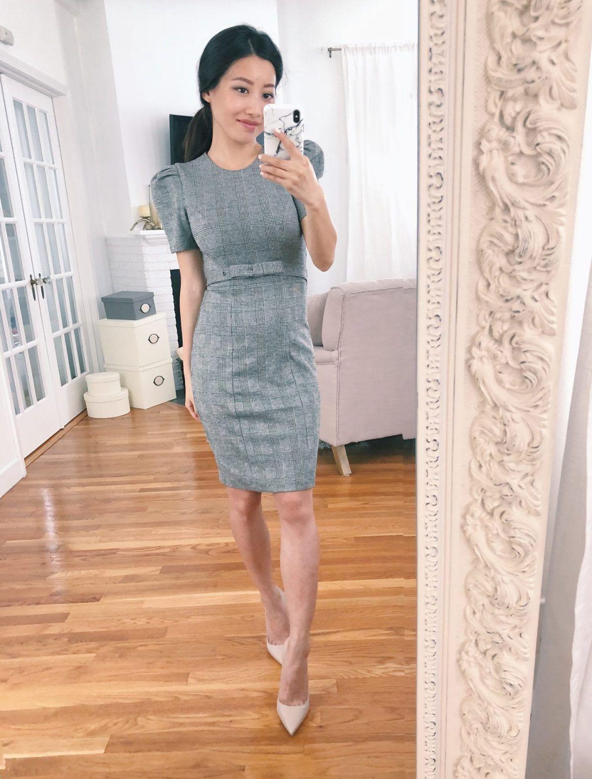 d90df5543df Plaid sheath dress + petite culotte pant reviews