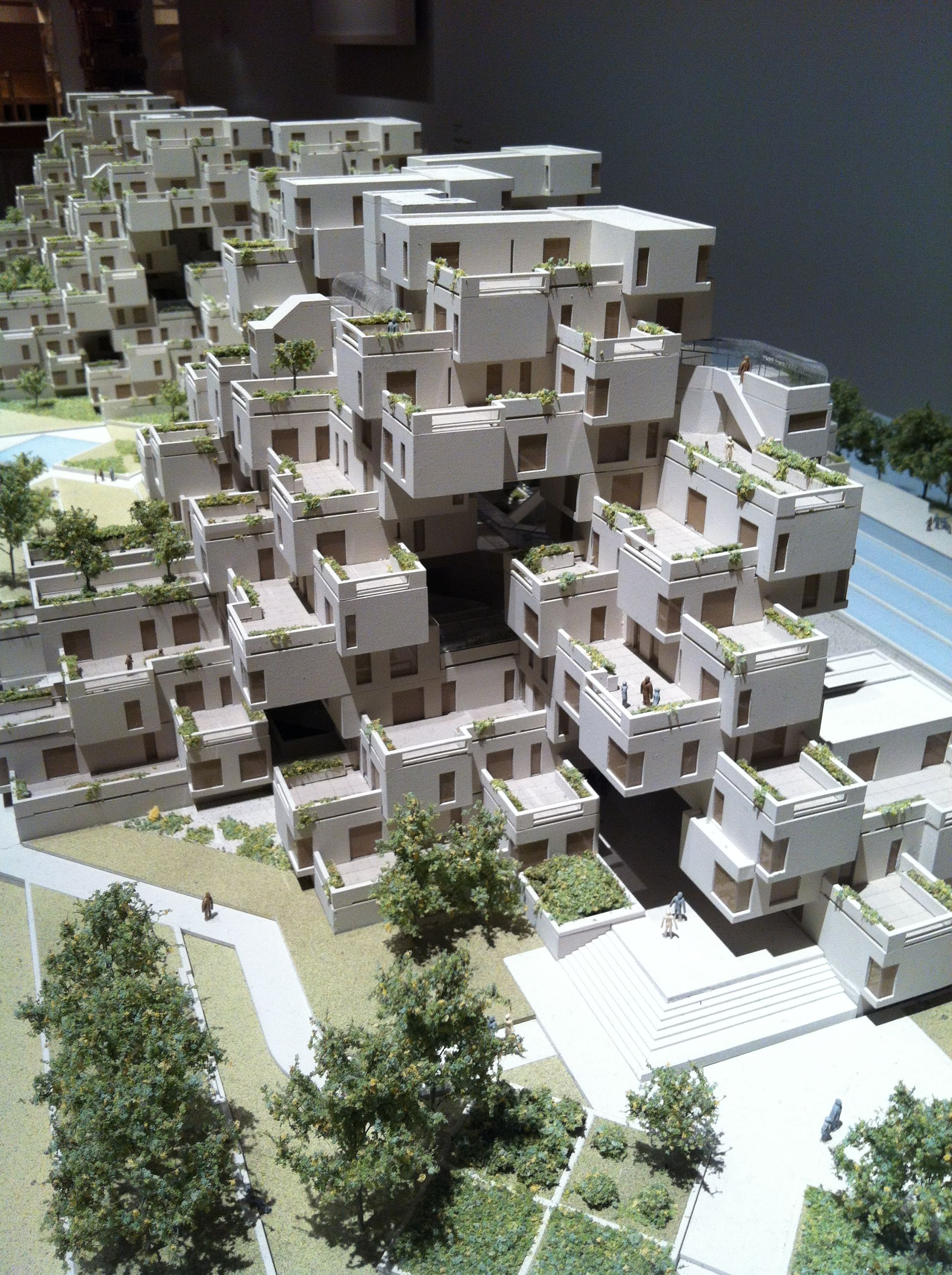 Moshe safdie habitat67 housing complex montreal expo for Habitat 67 architecture