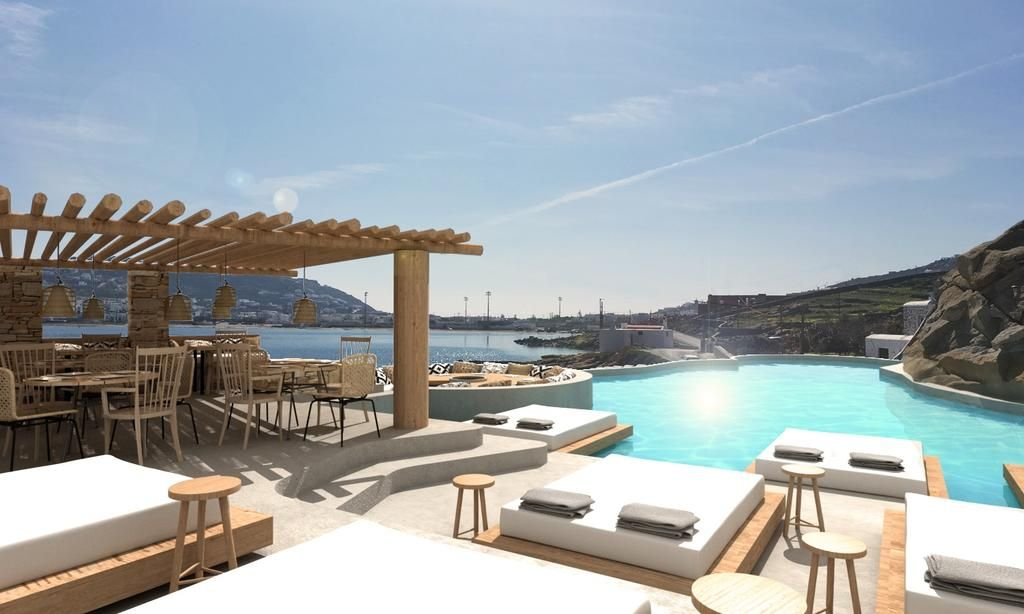 DreamBox Mykonos Suites Offering an outdoor pool and