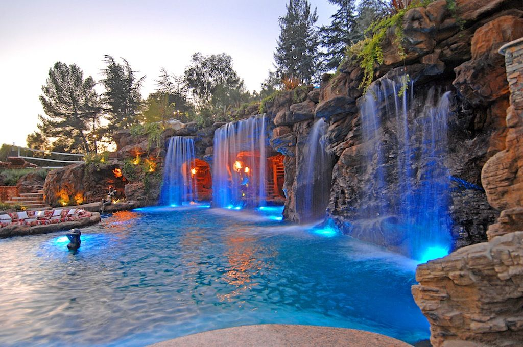 explore pool waterfall luxury pools and more