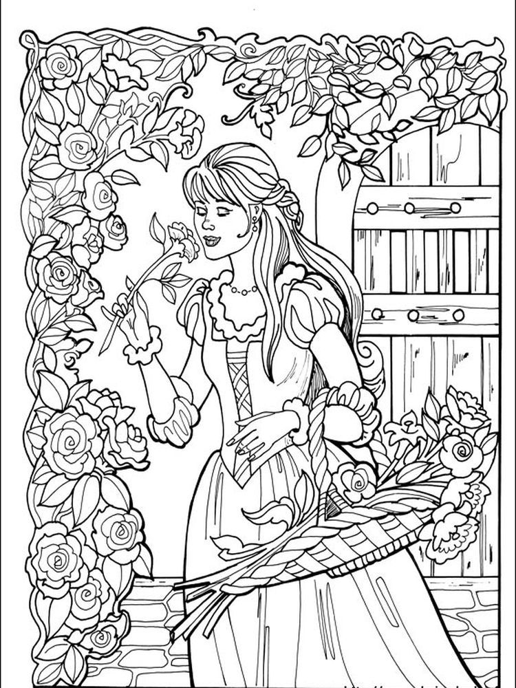 Chinese Princess Coloring Page Following This Is Our Collection Of Princess Coloring Page You A Coloring Pictures Princess Coloring Pages Cute Coloring Pages