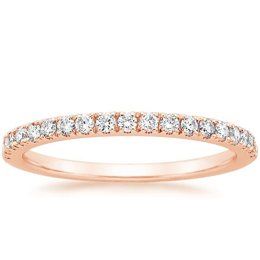 Bliss Diamond Wedding Ring 14K Rose Gold Products Pinterest
