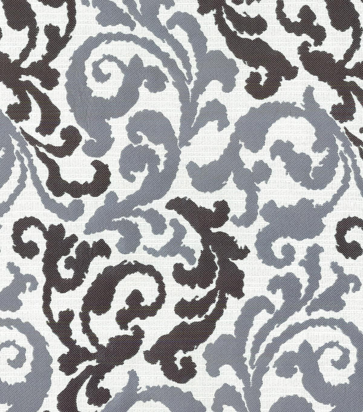 kelly ripa upholstery fabric - graceful curves ebony