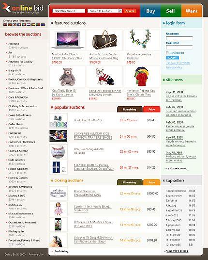 Auction Website Template Làm Web Bán Dụng Cụ Thể Thao Bán Máy Tập Thể Hình 899  Http