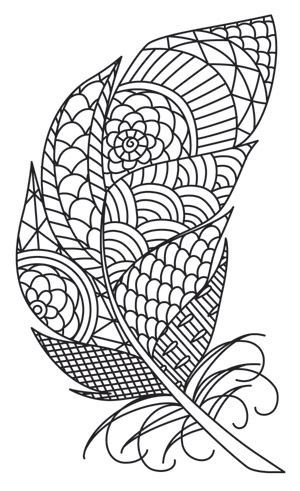 free feathers coloring pages - photo#38