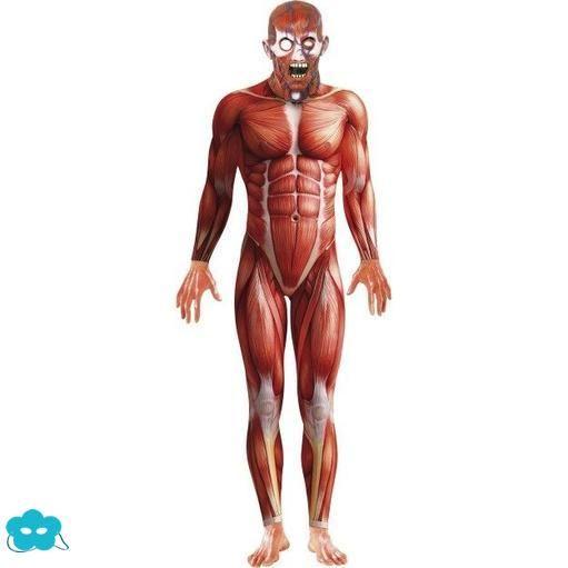 Disfraz de anatomía humana para hombre | Disfraces segunda piel ...