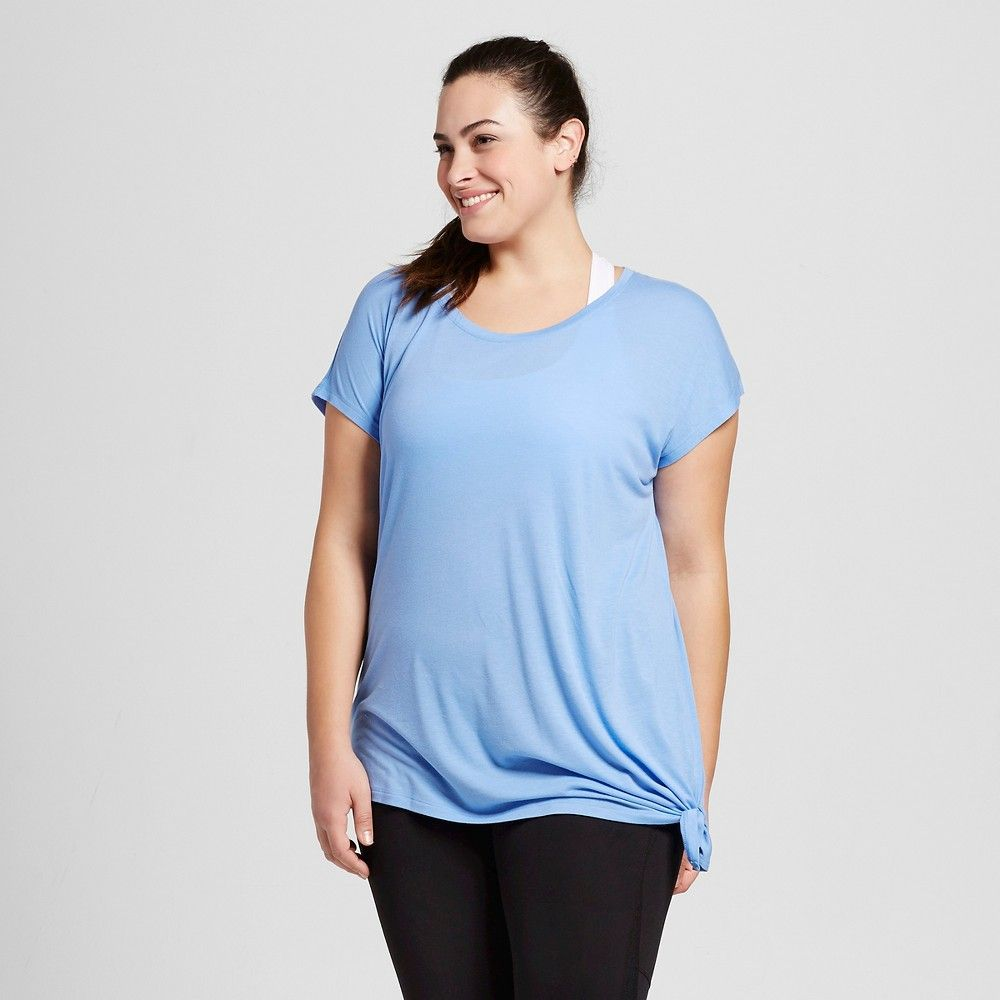 6a3332171b09d Women s Plus-Size Active Side-Tie T