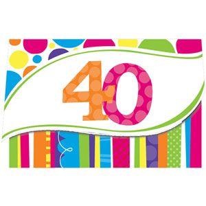 Bright and Bold Invitation, 40th
