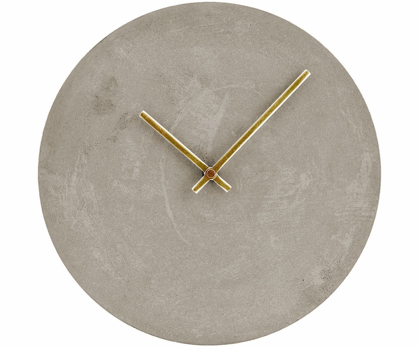 Wanduhr Für Badezimmer Concrete Grey Clock With Gold Hands. #homedecor Uhr In Grau, Gold - House Doctor >> Westwingnow | Wanduhr, Uhrideen, Retro Wanduhr