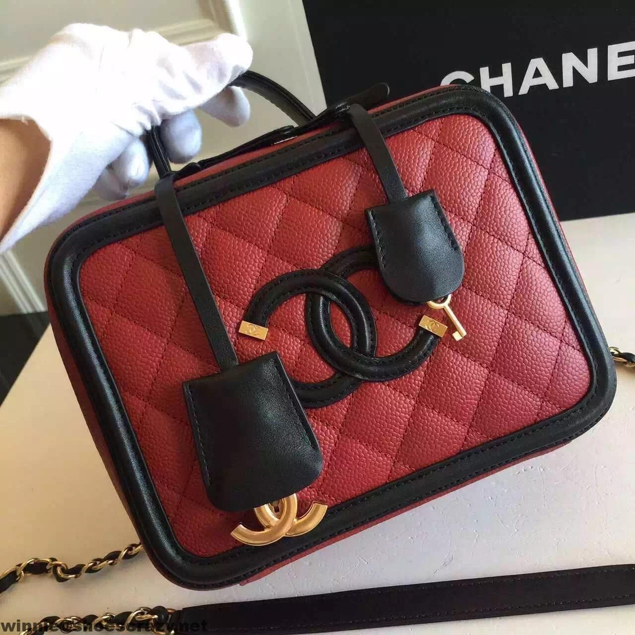 chanel vanity case. chanel cc filigree small vanity case bag i