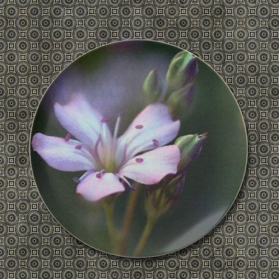 rose fleur m lamine assiette le floral assie tasses. Black Bedroom Furniture Sets. Home Design Ideas