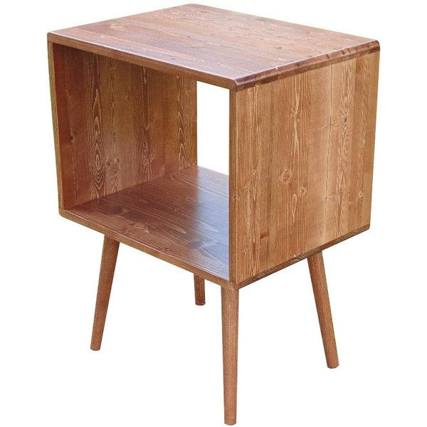 Mid Century Inspired Record Storage Table 240 liked on