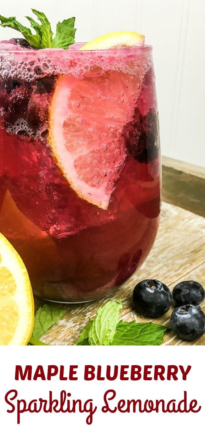 Sparkling Blueberry Maple Lemonade #sparklinglemonade