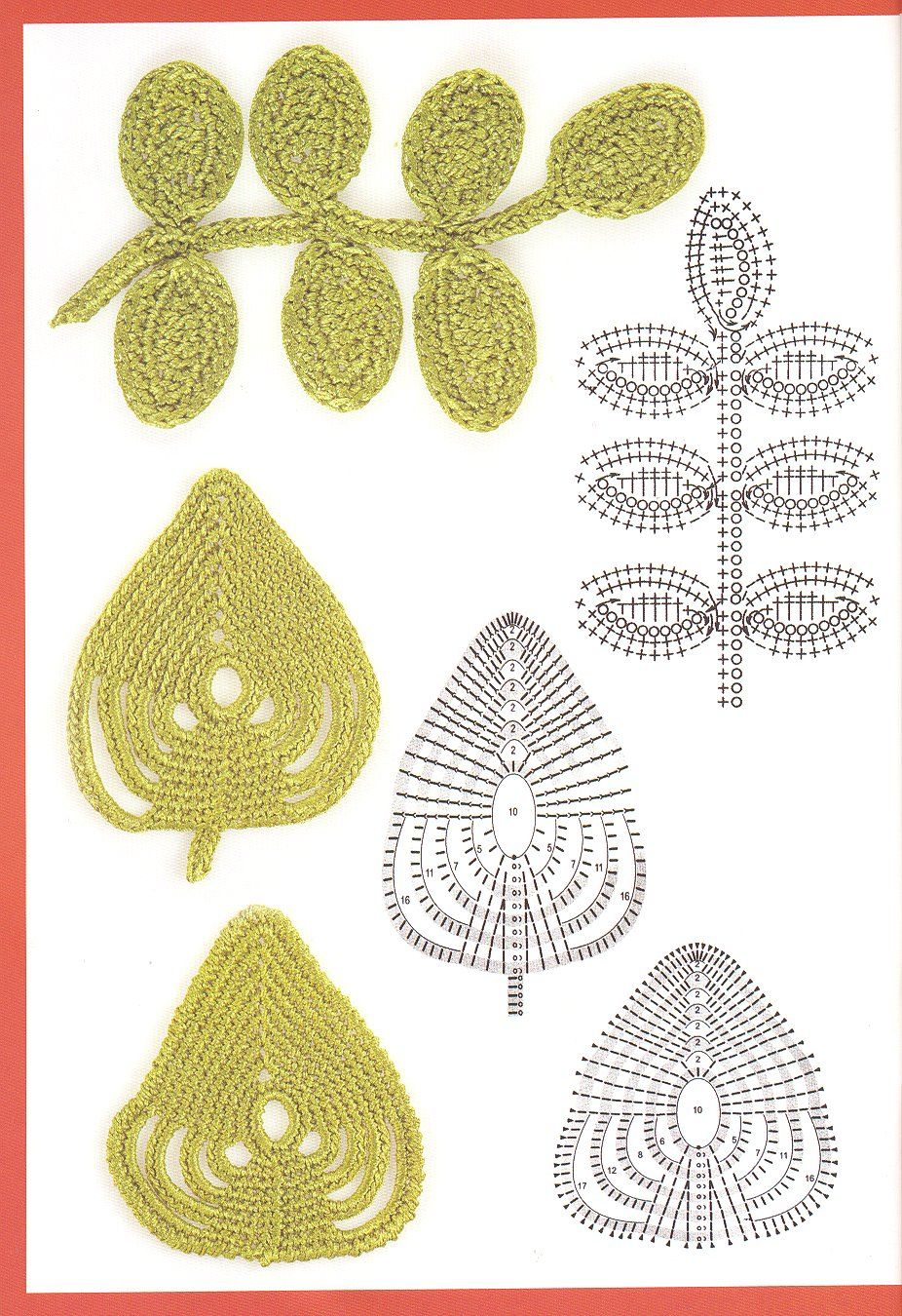 Blogger Innovart en Crochet shares these gorgeous leaves. You can ...