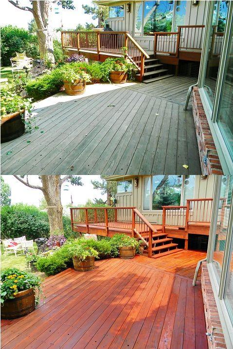 The Superior Finish Fence Deck Restoration Denver Rustic Deck Staining Deck Home Exterior Makeover