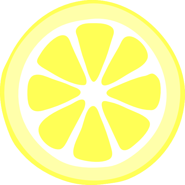 yellow lemon slice png large