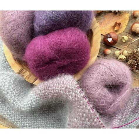 Easy Dreieckstuch Silkycloud à la Knit Knit Berlin stricken - Anleitung - glutenfreie Rezepte & kreative Ideen #dollhats