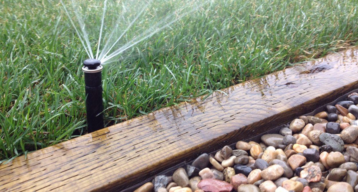 Landscape Design, Wood edging, gravel path, Yard Busters