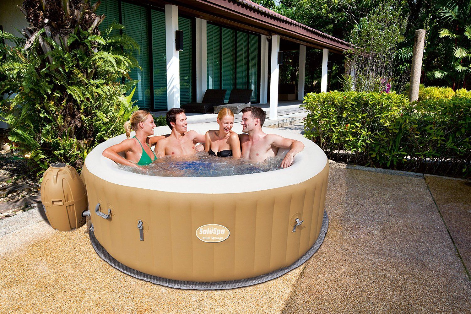 Jacuzzi Pool Amazon Amazon Saluspa Palm Springs Airjet Inflatable 6 Person Hot