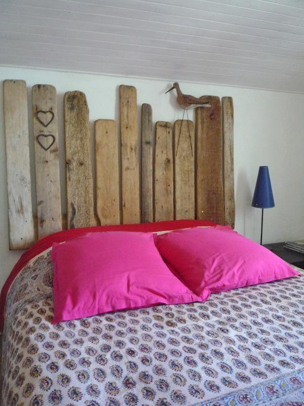 T te de lit en bois flott une souris dans mon dressing d corations pinte - Tete de lit en bois flotte ...
