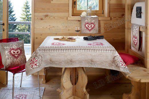 Copritavolo Tirolese ~ Copritavolo tovaglia lavorazione jacquard cinigliata gardena