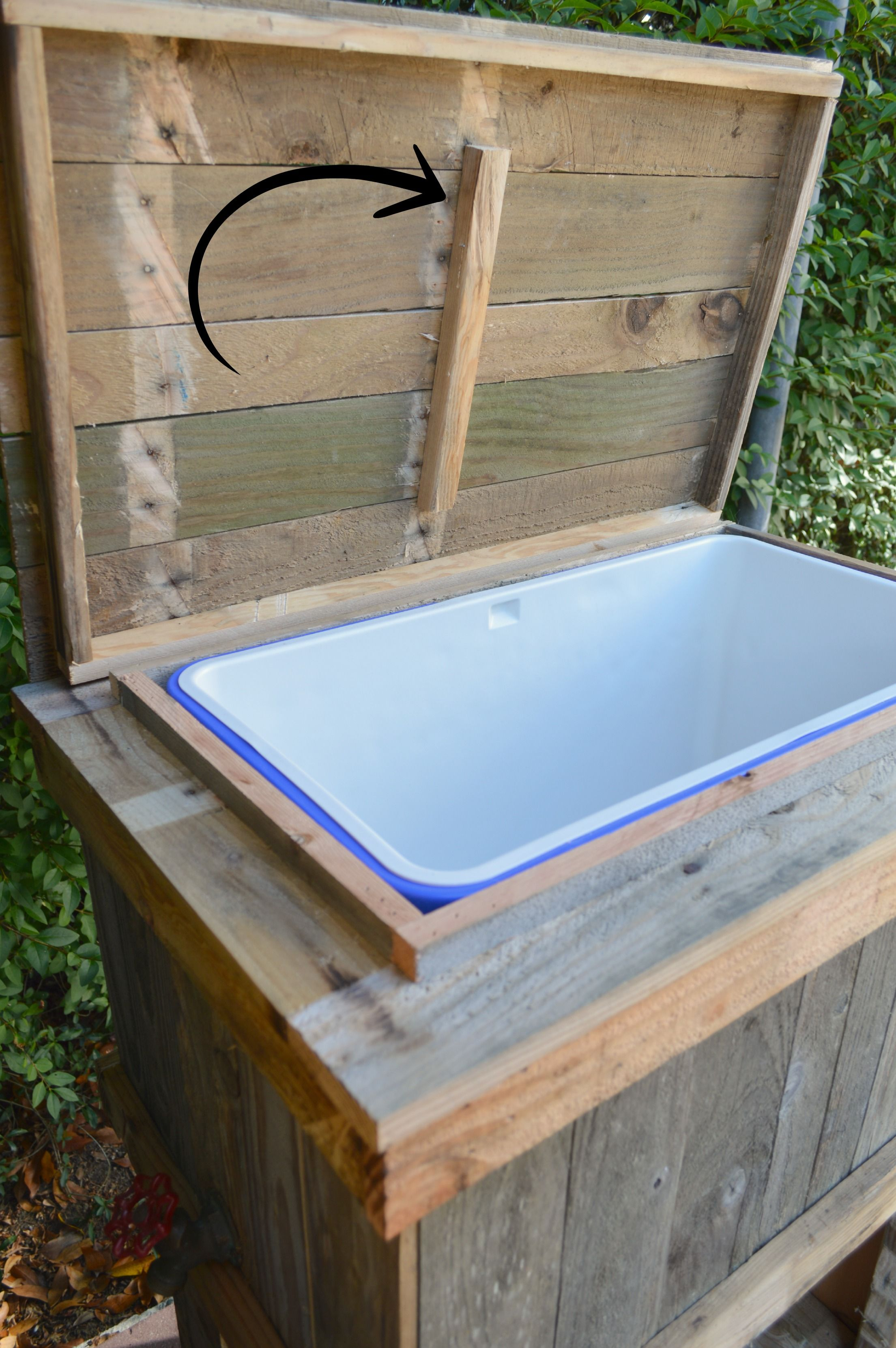 How To Build A Wood Deck Cooler Wooden Ice Chest Deck