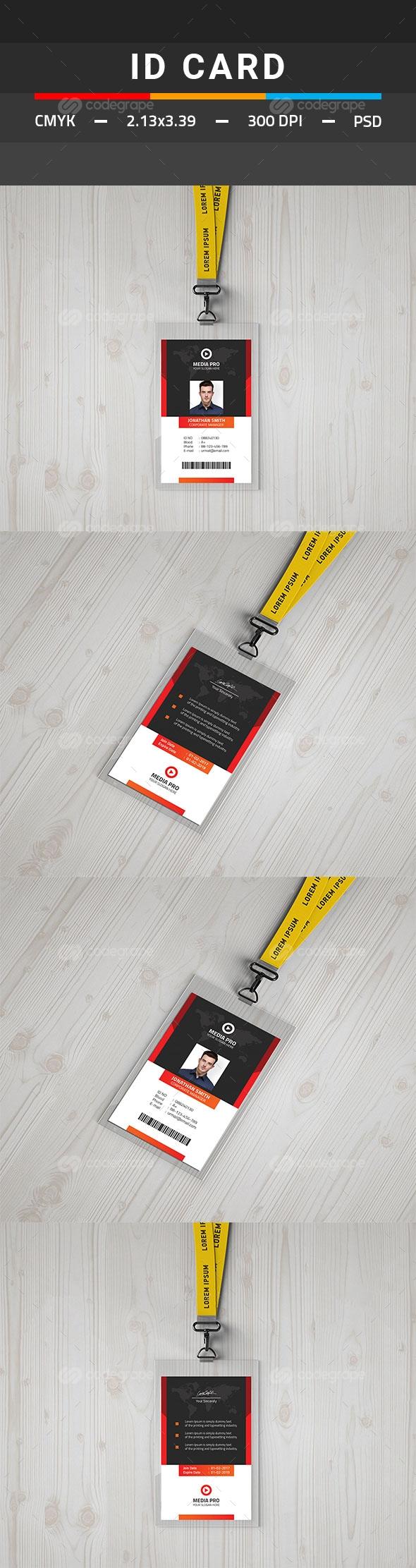 ID Card Template | Pinterest | Tarjetas de identificación y Tarjetas