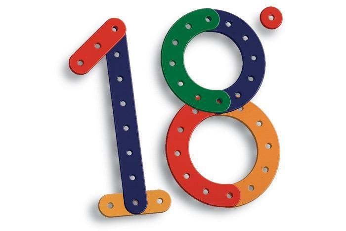 marchio per il diciottesimo anniversario della scuola Montessori