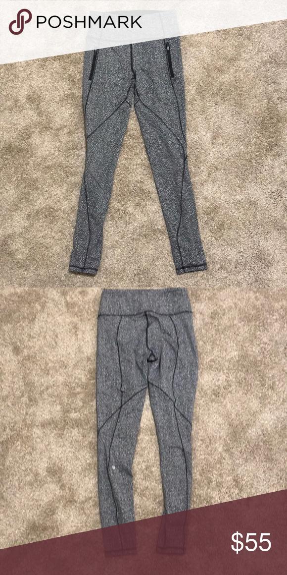 990949249 Lululemon leggings Black white speckled Lululemon yoga pants lululemon  athletica Pants Leggings