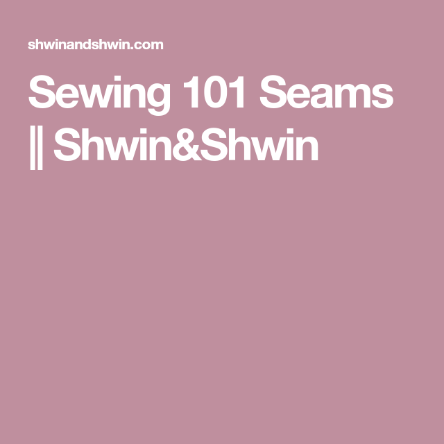 Sewing, French Seam