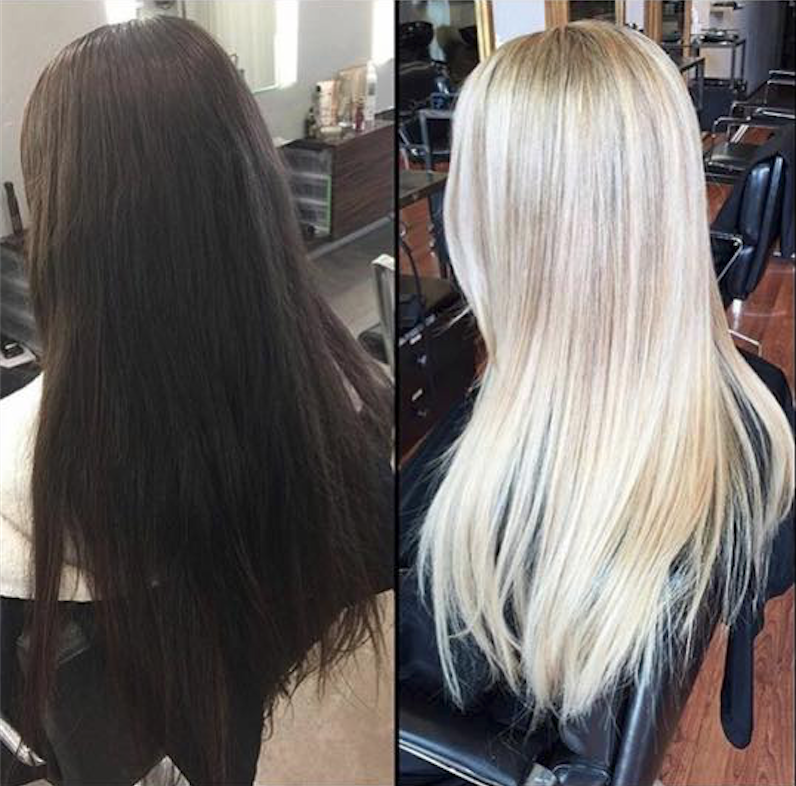 brunette to blonde within 3 months by olaplex by luxelab olaplex pinterest haare und. Black Bedroom Furniture Sets. Home Design Ideas