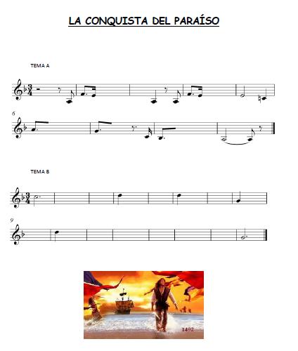 El Lenguaje Musical De Fátima Partitura Para Completar La Conquista Del Paraíso Partituras Musical Educacion Musical
