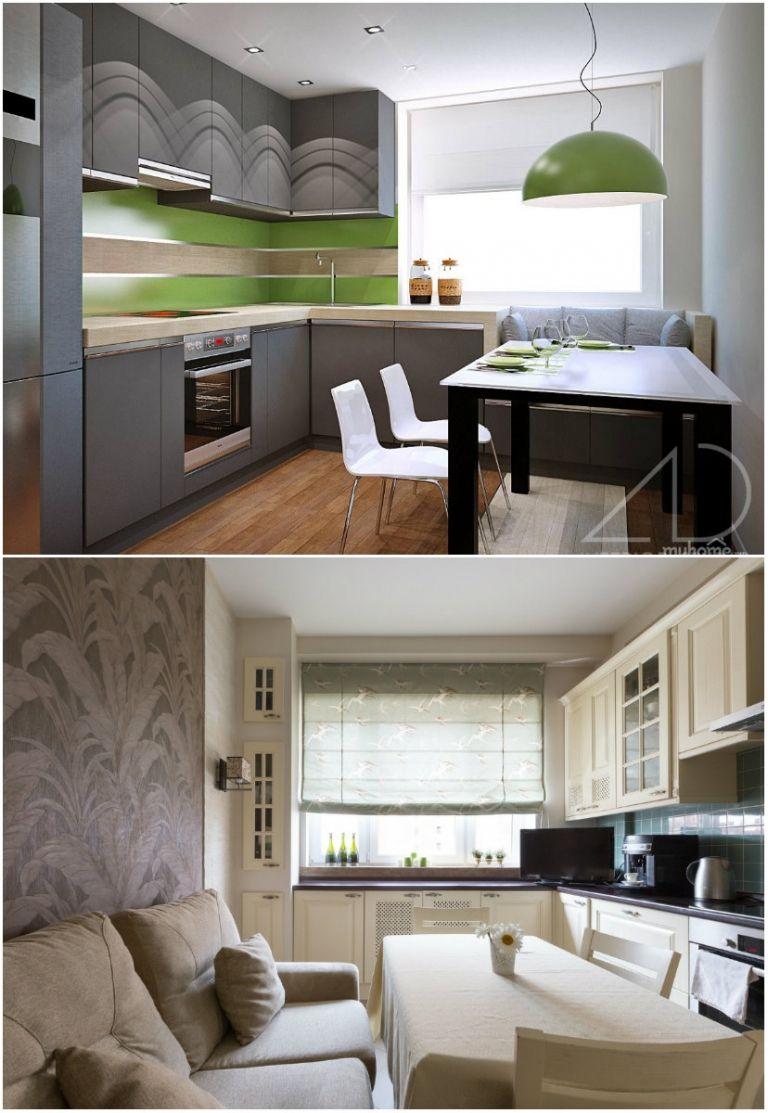 Дизайн интерьера кухни 14 кв. м: фото интерьеров с диваном ...