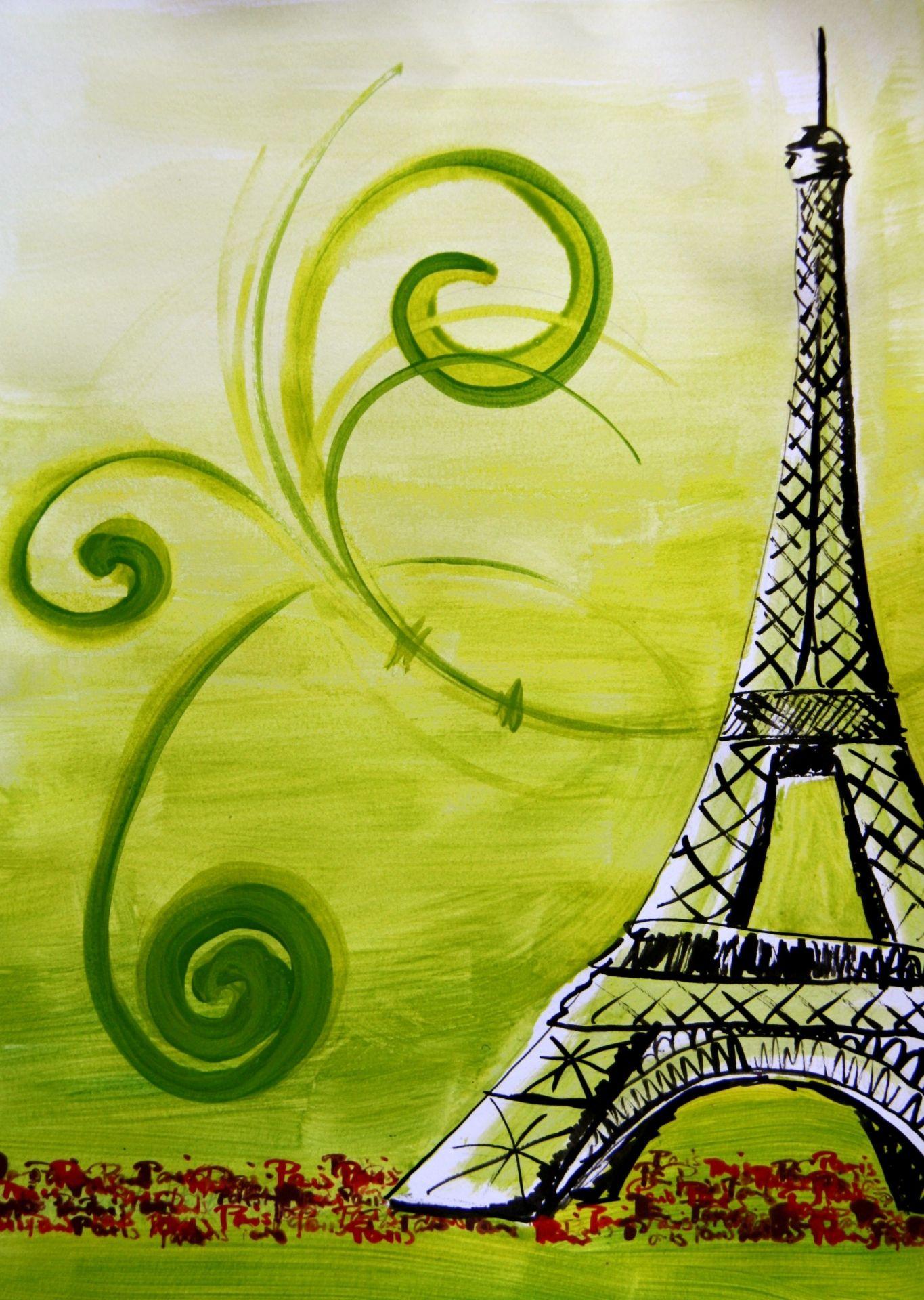 Tour Eiffel peinture (avec images) | Peinture, Tour eiffel, Tableau peinture