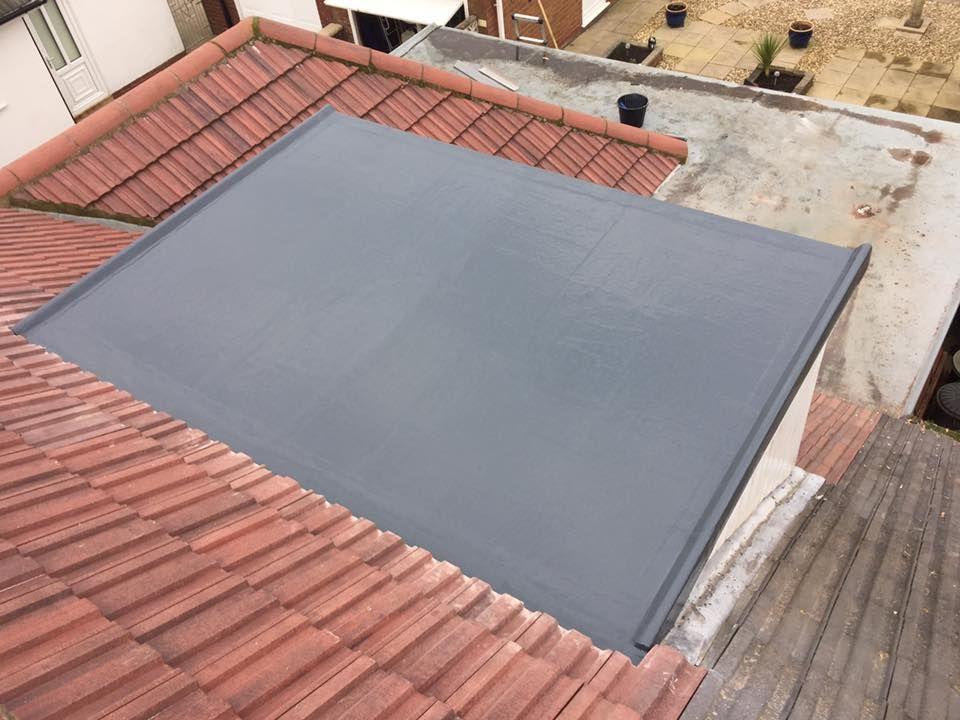 Dormer Fibreglass roof installation Fibreglass roof