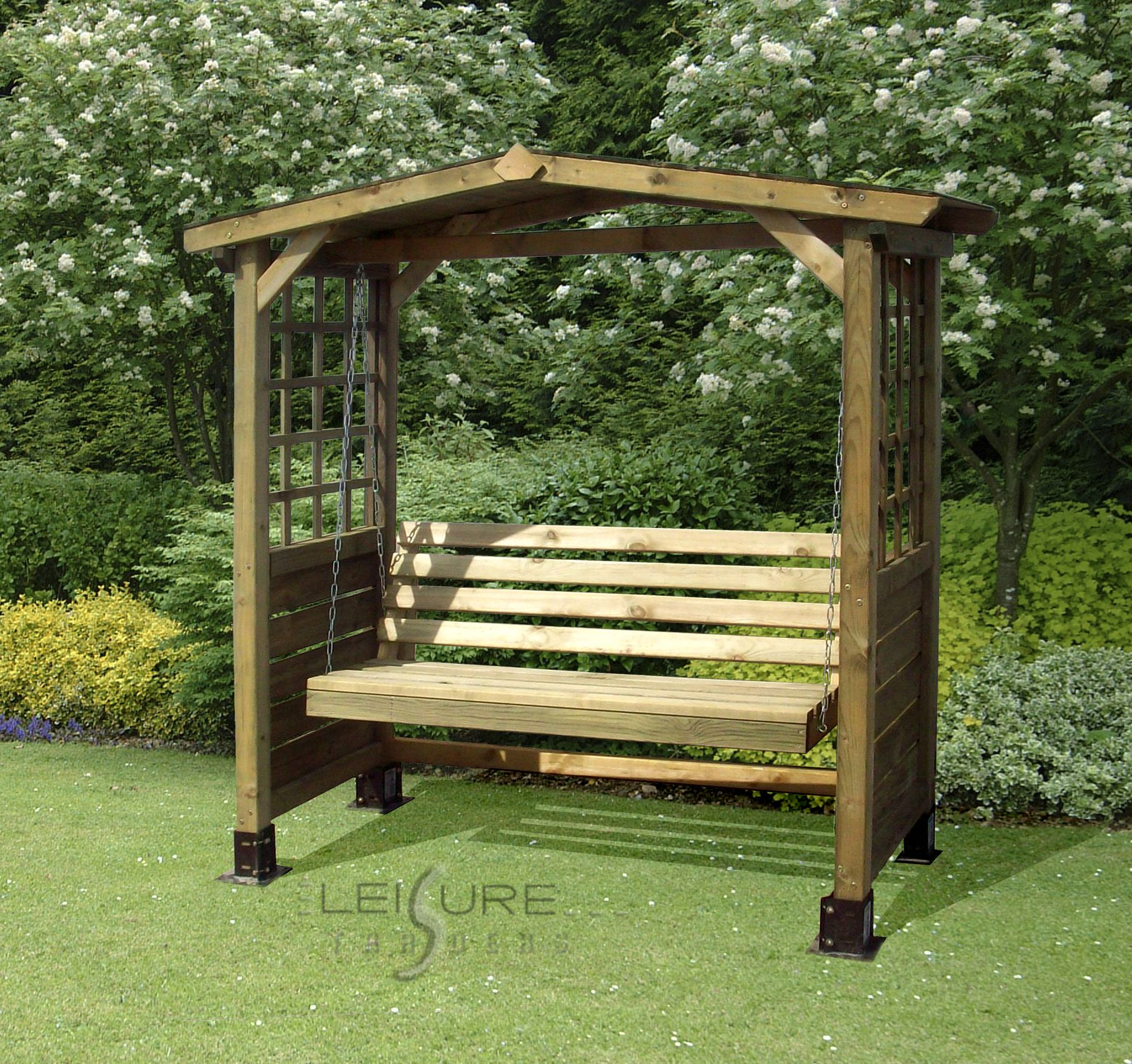 The poseidon arched arbour garden seat dream home pinterest