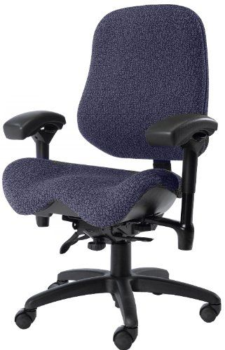 Bodybilt J2502 Blue Fabric High Back Thoracic Support Task Ergonomic Chair With Arms 22 Ergonomic Chair Blue Fabric High Back Office Chair