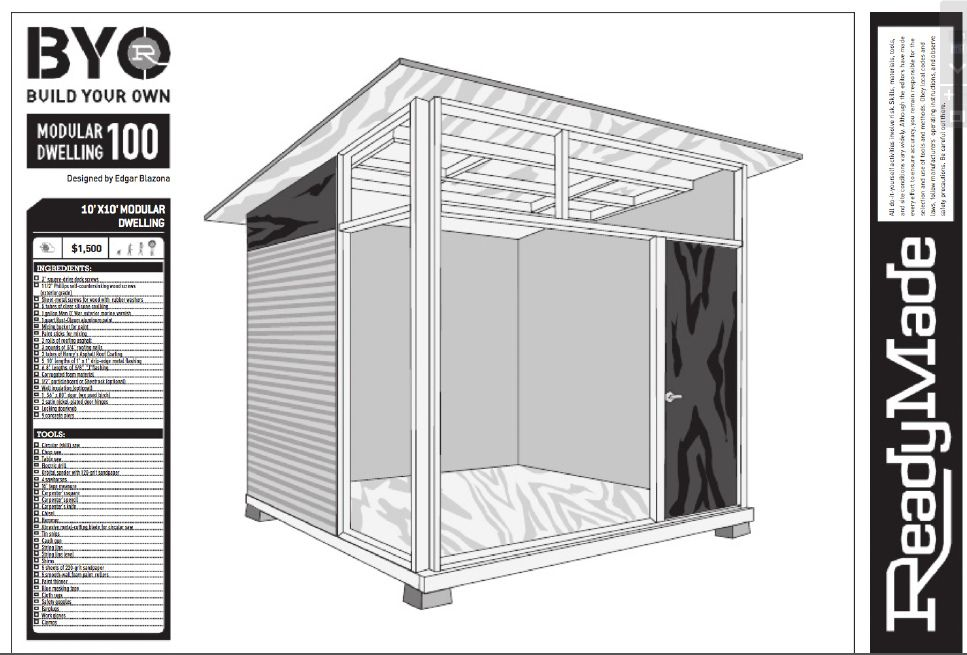 Modern Shed Design MD100 Plans for Modern Shed Red Cover