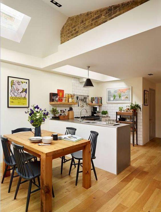 12 designs de cuisine ouverte sur le salon ou la salle à manger
