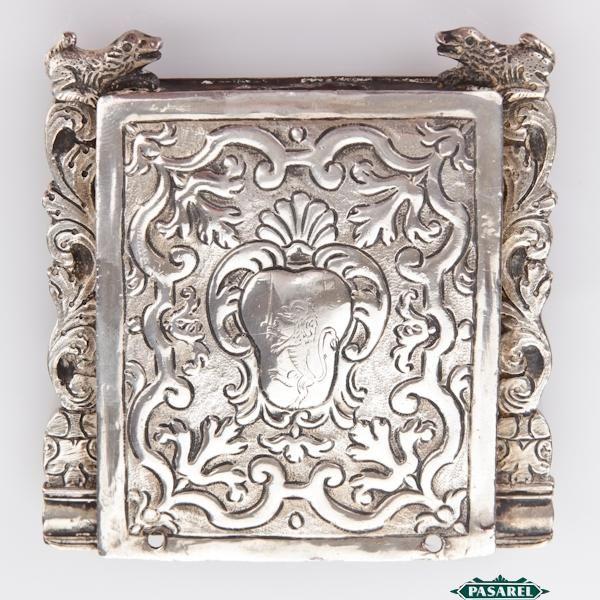 Pasarel - Rare Antique Italian Silver Jewish Amulet Pendant, Venice, Ca 1750. $4200
