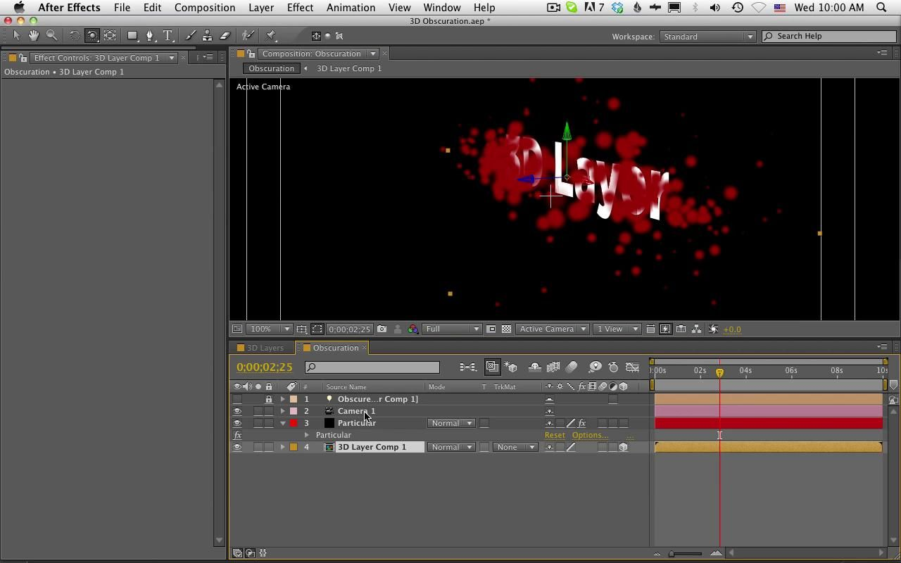 Red Giant QuickTip #49: Trapcode Particular and Obscuration Layers