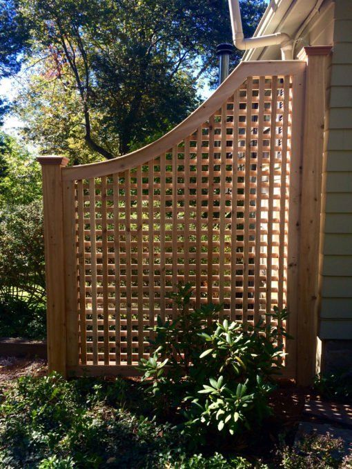 Cedar Greenwich Square Lattice Fence Panel -   14 garden design Fence outdoor living ideas