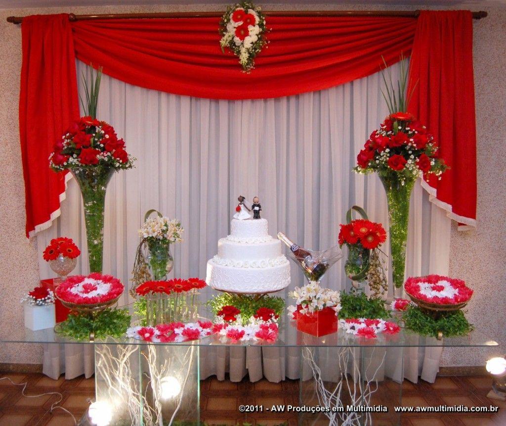 decora o da mesa de bolo casamento 14 casamento