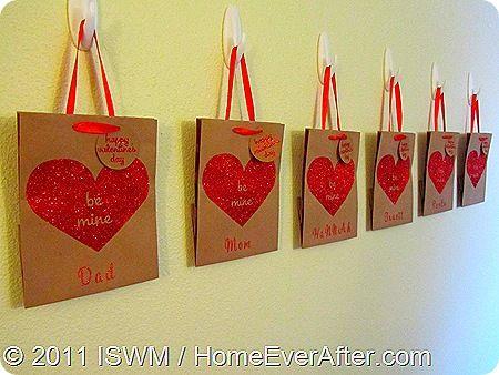 Easy Valentine Gift Bag Mail Boxes  Valentines Day  Pinterest