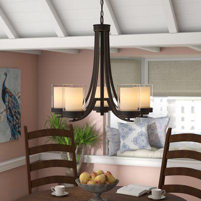 World Menagerie Cheyne 5 Light Candle Style Chandelier Finish Olde Bronze