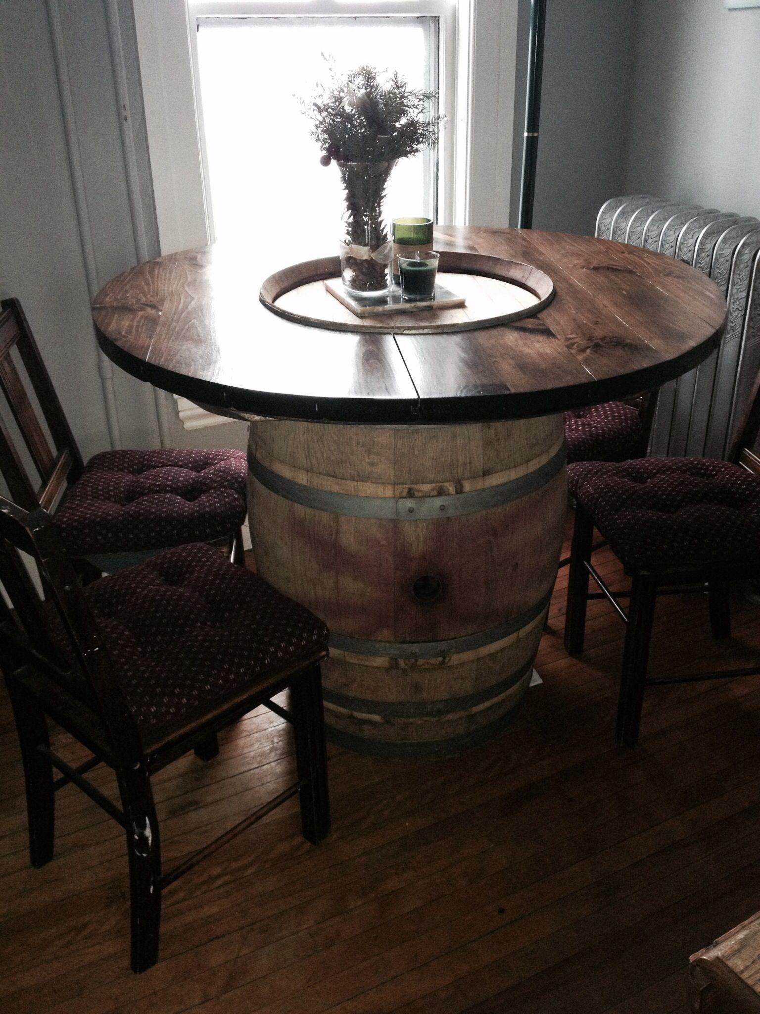 Wine barrel table barrel from cellar door winery cellar door