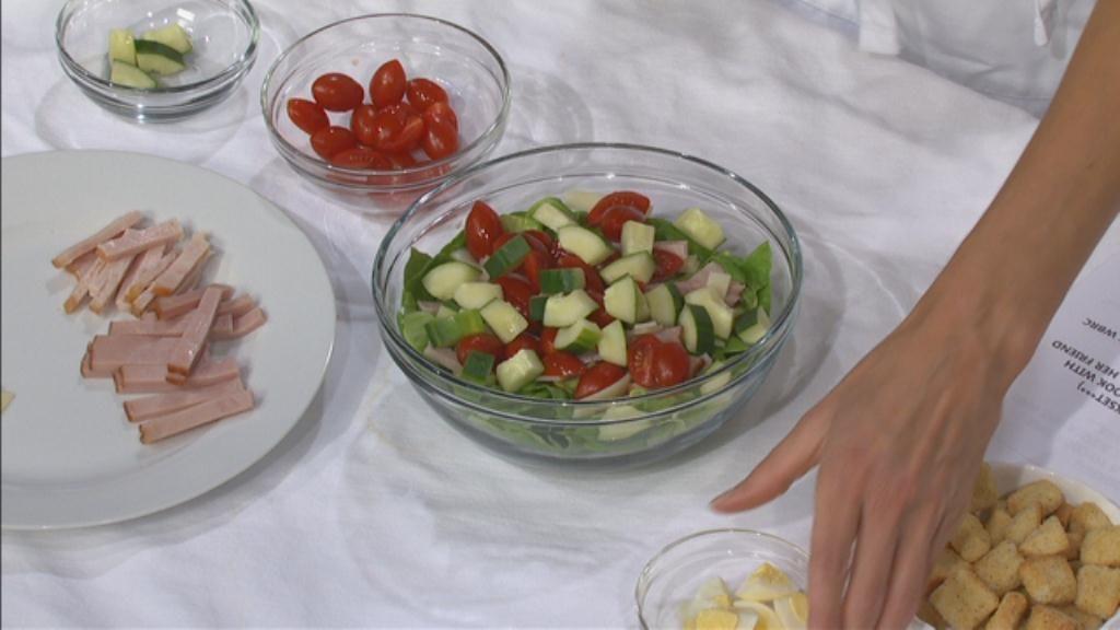 Chef Salad with Greek Yogurt Ranch