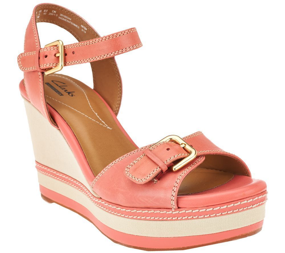 Womens Sandals Clarks Zia Castle Coral