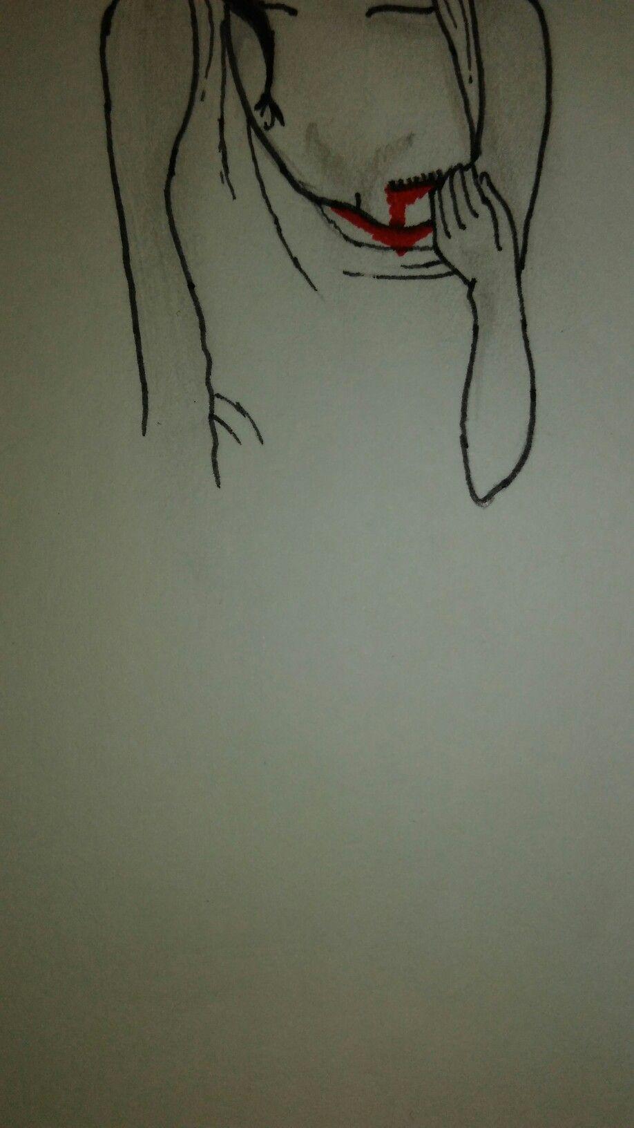 Girl sad sketch