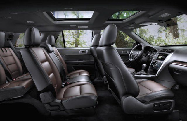 Best Third Row Suv Of 2015 Ford Explorer Interior Ford Explorer